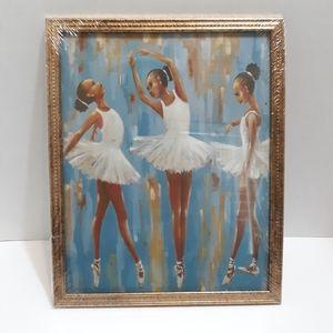 Framed Wall Art - 3 African American Ballerinas
